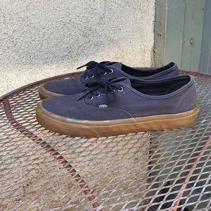 be22e3f73c Vans Shoes - Navy blue Gum sole vans authentic. 9.5.